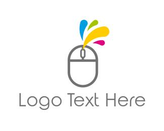 Click - Ink & Mouse logo design