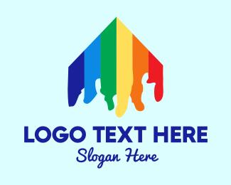 Lgbt - Rainbow House logo design
