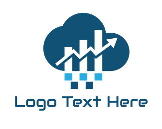 Bar Chart - Financial Cloud logo design