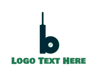Cricket Bat & Ball Logo