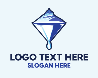 Snow - Glacier Diamond logo design