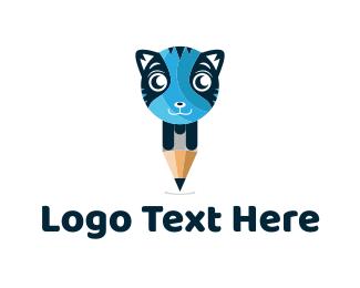 Tiger - Cat Pencil logo design