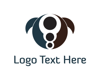 Centered - Abstract Turtle logo design