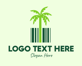 Coconut - Palm shop logo design