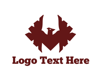 Soccer - Red Hawk logo design