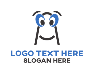 Worm - Cute Character logo design