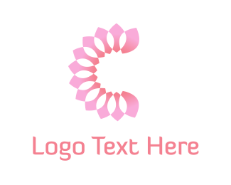 Orange And Pink - Pink Petals logo design