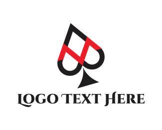 Gamble - Spade Letter M logo design