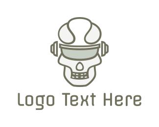 Crypt - Cyborg Skull Eyewear logo design