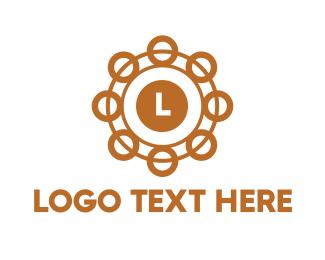 Pendant - Golden Circle Lettermark logo design