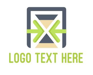 Hourglass - Time Management logo design