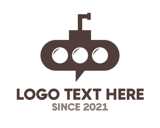 Social Network - Submarine Chat logo design