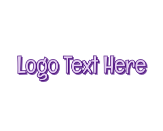 Wordmark - Comic Purple Wordmark logo design