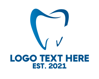 Dentist - Blue Tooth logo design