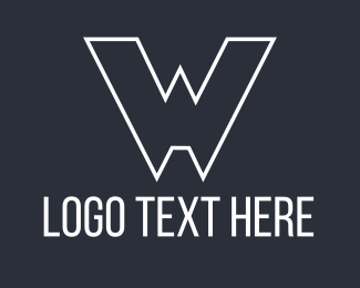 White - White Lettter W logo design
