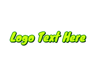 Food Chain - Neon Green Handwriting logo design