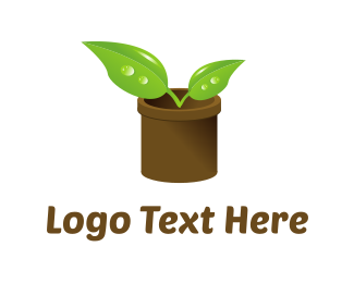 Stem - Plant Pot logo design