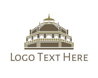 Indian - Ancient Temple  logo design