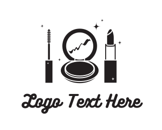 Mirror - Black Cosmetics logo design