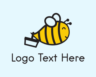 Honey - Little Bee logo design
