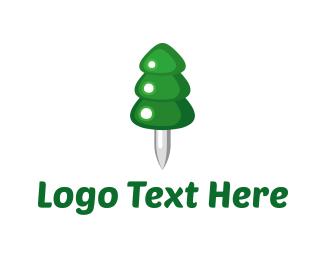 Xmas - Pin-a-Pine logo design