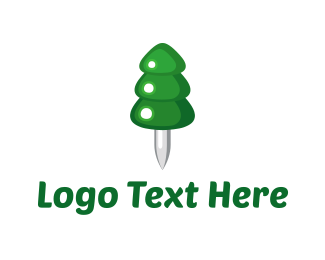 Forest - Pin-a-Pine logo design