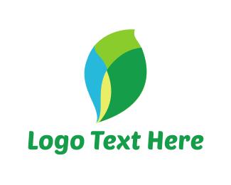 Lily - Leaf Mosaic logo design