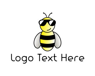 Honeybee - Cool Bee logo design