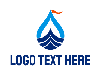 Swim - Sea Boat logo design