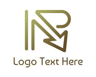Logistics - Platinum R Arrow logo design