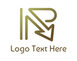 Direction - Platinum R Arrow logo design