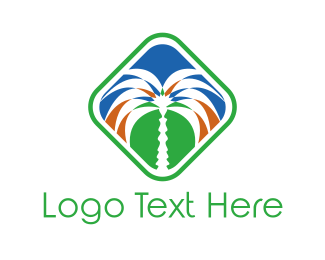 Oasis - Florida Palm Tree logo design
