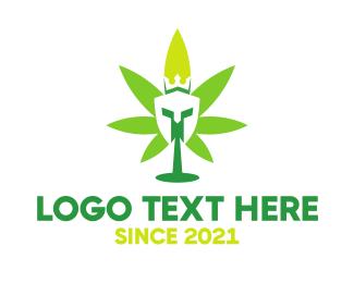 Sparta - Cannabis Spartan King logo design
