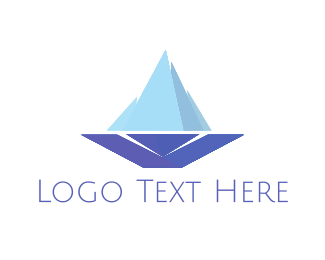 Winter - Ice Boat logo design