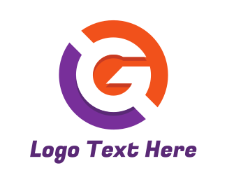 Owner Name - Purple Orange Circle G logo design
