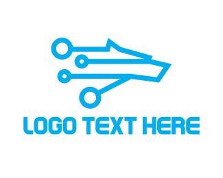 Clan - Tech Wolf logo design