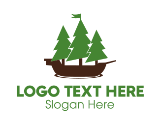 Pine - Nautical Forest logo design
