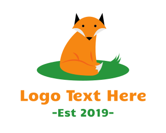 Fox - Cute Wild Fox logo design