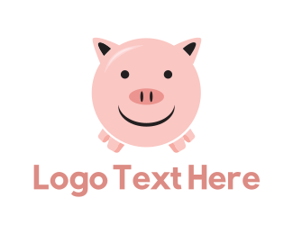 Pork - Happy Pig logo design
