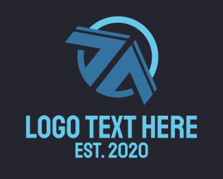 Vertex - Blue Arrow  logo design