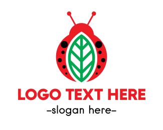 Child Care - Leaf  & Bug logo design