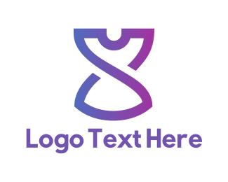 T-shirt - Purple Clothing logo design