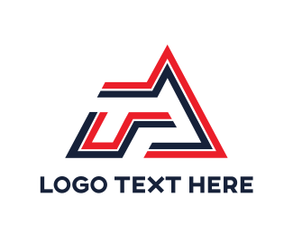 Name - Geometric Stripe RA   logo design