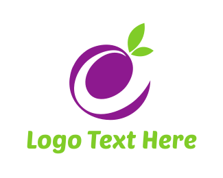 Olive - Letter E Grape logo design