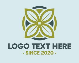 Tea Shop - Green Flower logo design