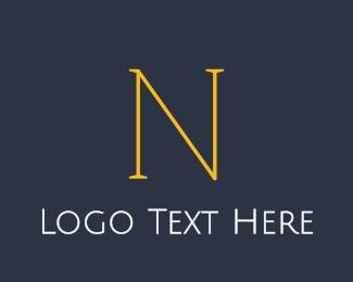 Classic - Elegant Yellow N logo design