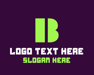 Computing - Green Bold Letter B logo design