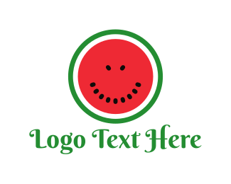 Juice Bar - Watermelon Face logo design