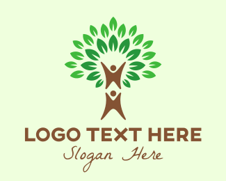 Green Tree Couple  Logo