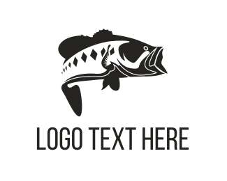 Fishery - Bass Fish logo design